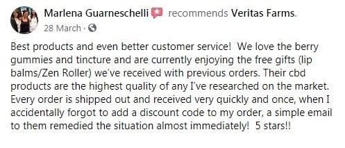 Veritas Farms Customer Review 2