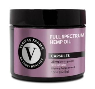 Veritas Farms Full Spectrum CBD Capsules