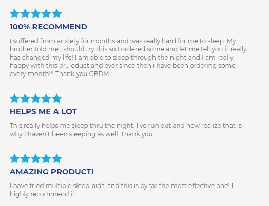 cbdMD CBD Oil For Sleep Customer Reviews