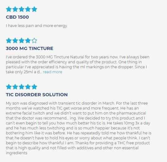 cbdMD CBD Oil Tinctures Customer Reviews