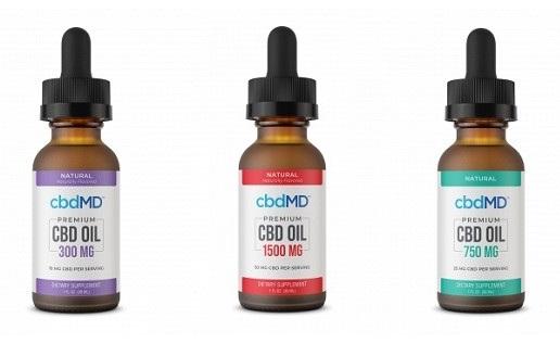 cbdMD CBD Oil Tinctures