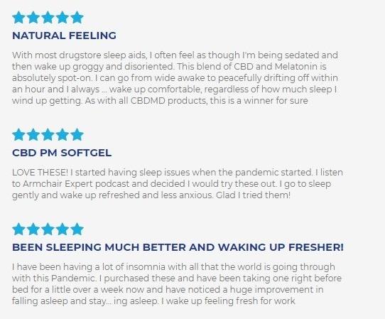 cbdMD CBD PM Softgel Capsules Customer Reviews