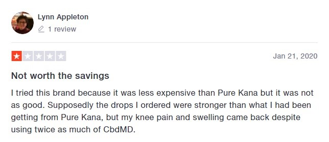 cbdMD Customer Review 2