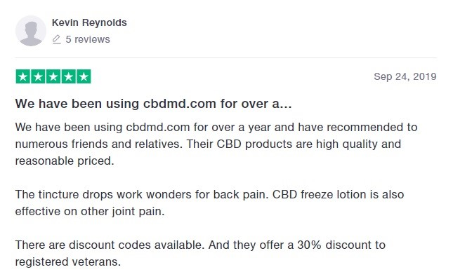 cbdMD Customer Review 3