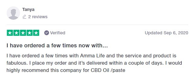 Amma Life Customer Review 5