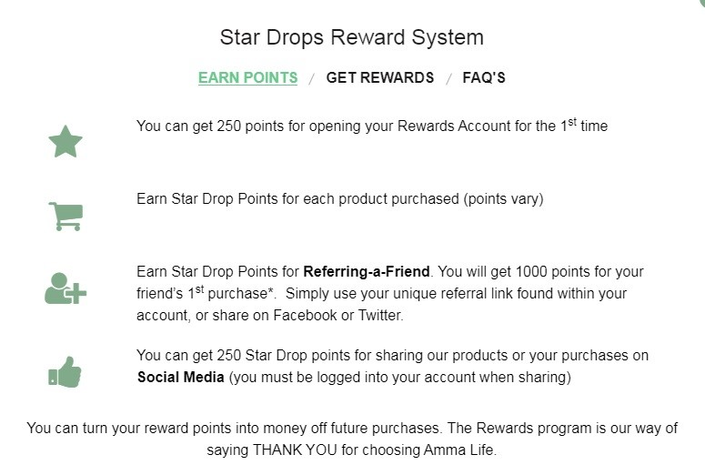 Amma Life Rewards Program