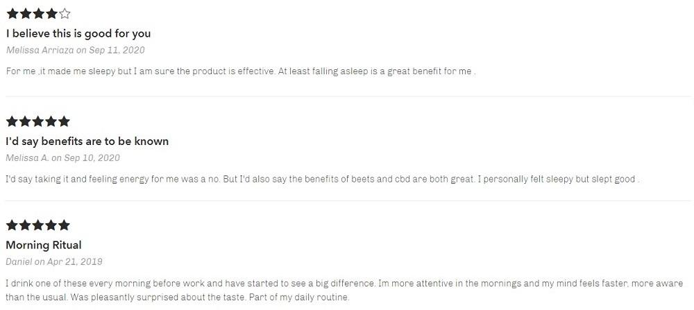 Bhang CBD Beet Shots Customer Reviews