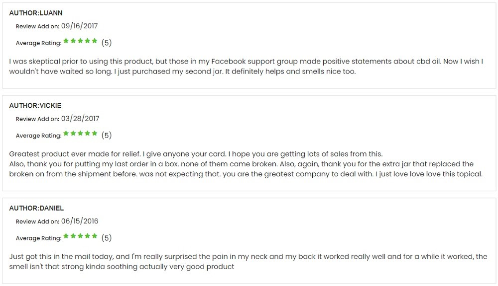 Cloud 9 Hemp CBD Topicals Customer Reviews