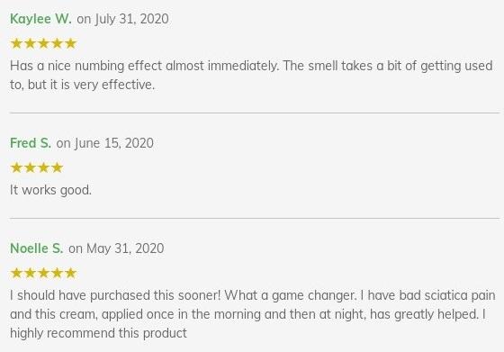 Diamond CBD Creams Customer Reviews