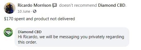 Diamond CBD Customer Review