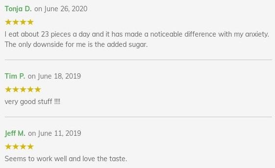 Diamond CBD Dried Fruit Customer Reviews