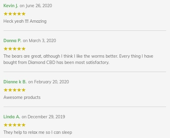 Diamond CBD Gummies Customer Reviews