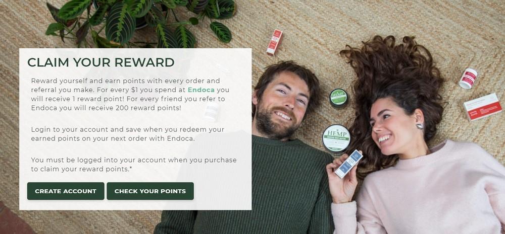 Endoca CBD Rewards Program
