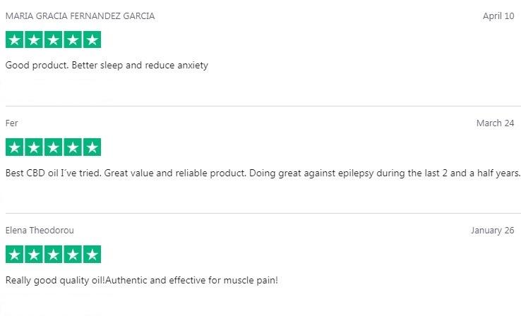 Enecta CBD Oil Customer Reviews