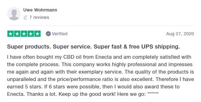 Enecta Customer Review 5