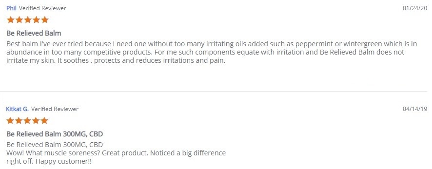 Essentially Hemp CBD Balms Customer Reviews