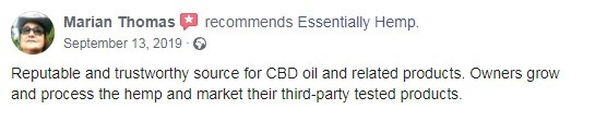 Essentially Hemp Customer Review 3