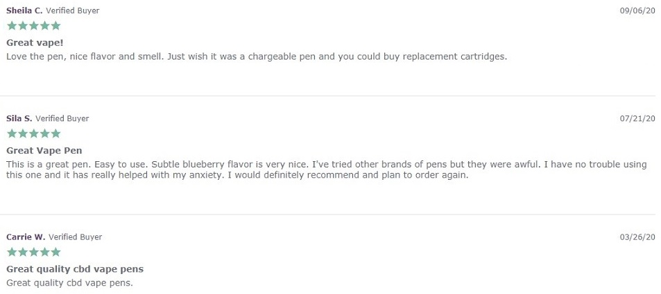 Farmacy Bliss CBD Vapes Customer Reviews