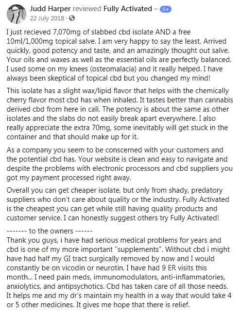 Fully Activated Customer Review 3