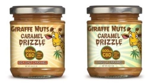 Giraffe Nuts CBD Caramel Drizzle