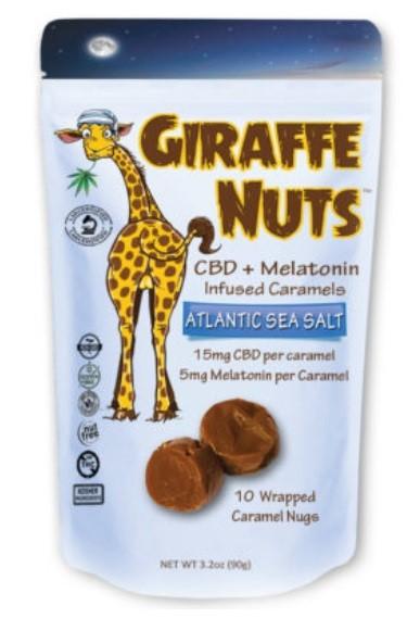 Giraffe Nuts CBD Caramels with Melatonin