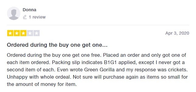 Green Gorilla Customer Review 2
