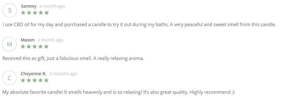 Greenlife Organics CBD Self Care Customer Reviews