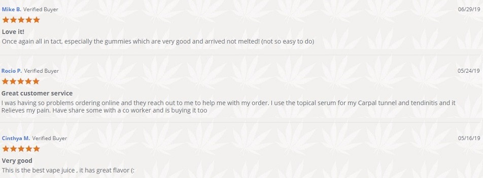 Hemp Victory Garden CBD Vaping and Smokeables Customer Reviews