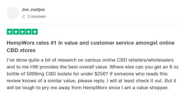HempWorx CBD Customer Review