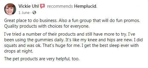 Hemplucid Customer Review