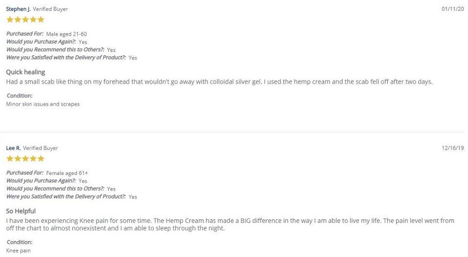 Highland Pharms CBD Creams and Lotions Customer Reviews