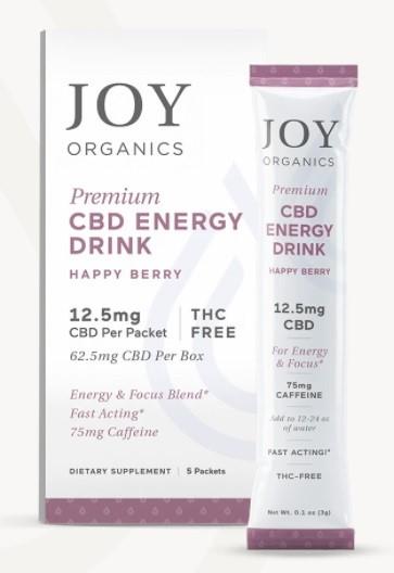 Joy Organics CBD Energy Drinks