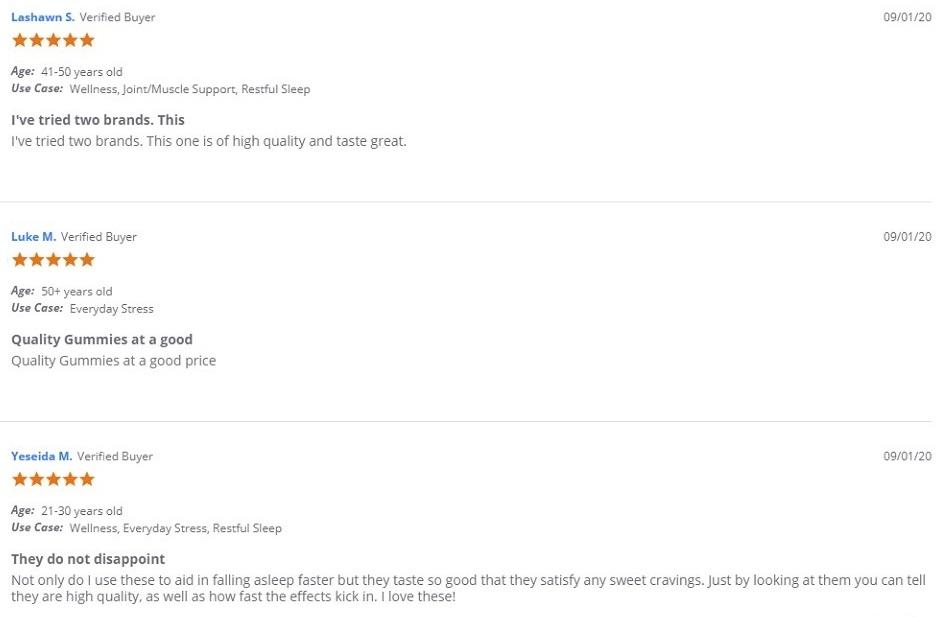 Joy Organics CBD Gummies Customer Reviews