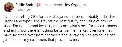 Joy Organics Customer Review 2