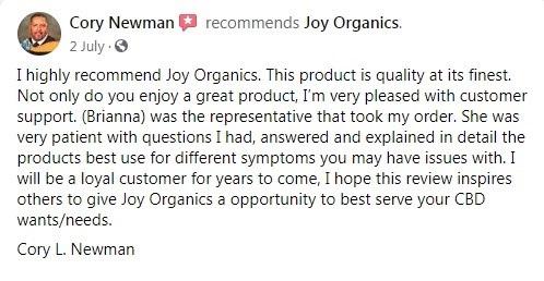 Joy Organics Customer Review