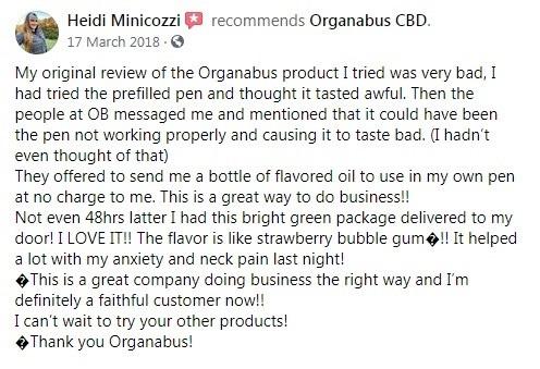 Organabus CBD Customer Review