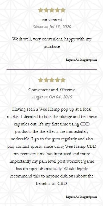 The Wee Hemp Company CBD Capsules Customer Reviews