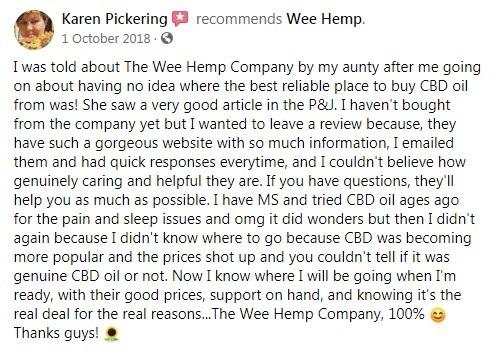 The Wee Hemp Company Customer Review 4