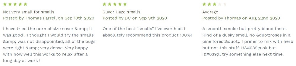 Tweedle Farms CBD Small Buds Customer Reviews