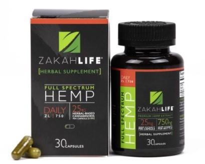 Zakah Life CBD Capsules