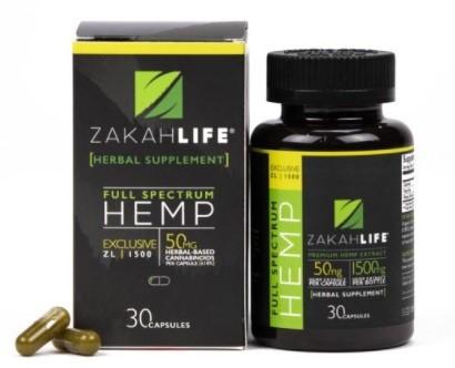 Zakah Life CBD Hemp Oil Capsules