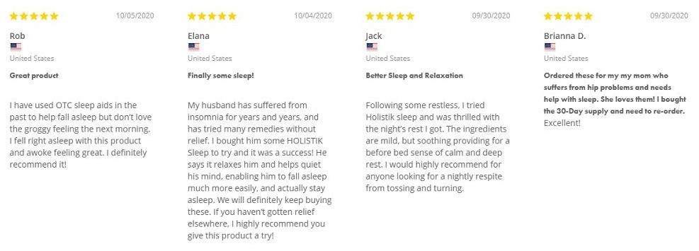 Holistik Wellness Sleep Stik Customer Reviews