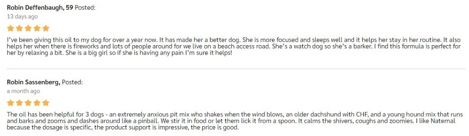 Naternal CBD For Pets Customer Reviews