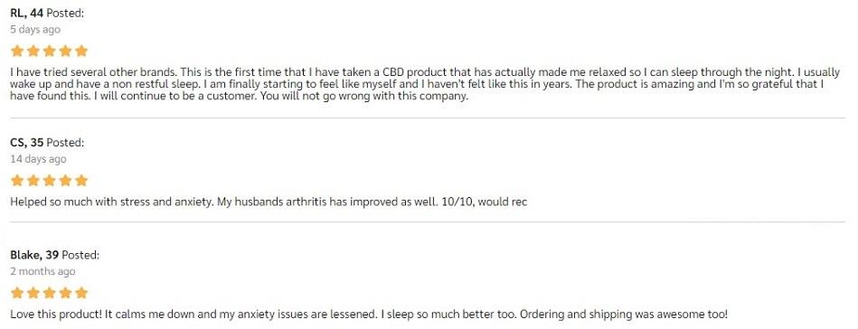 Naternal Full Spectrum CBD Oil Customer Reviews