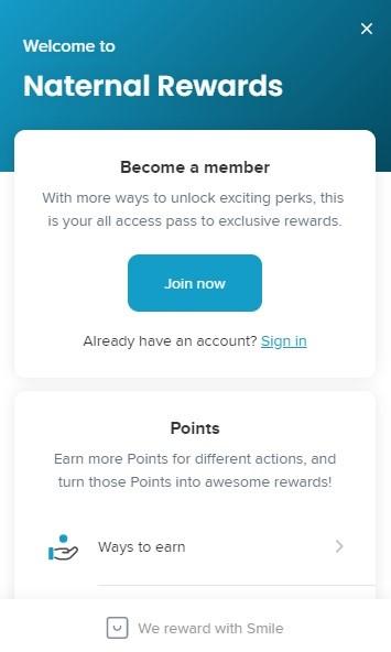 Naternal Rewards Program