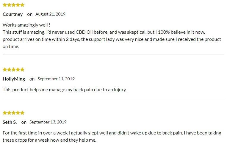Terahemp CBD Oil Customer Reviews
