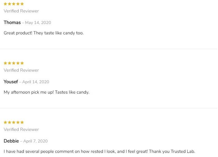 The Trusted Lab CBD Gummies Customer Reviews