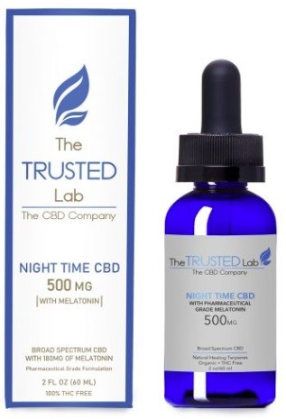 The Trusted Lab CBD Night Time Oil