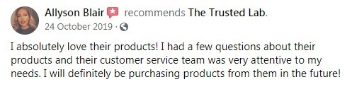 The Trusted Lab Customer Review 2