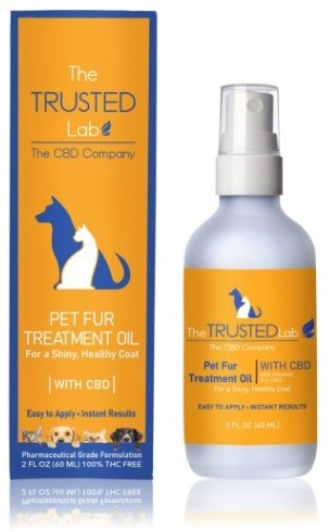 The Trusted Lab Pet Fur Care Treatment Oil with CBD